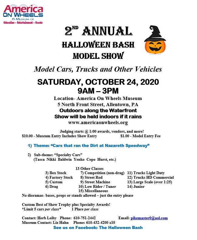 Halloween Allentown 2020 Halloween Bash   Model Car Show   Antique Auto Museum | Allentown